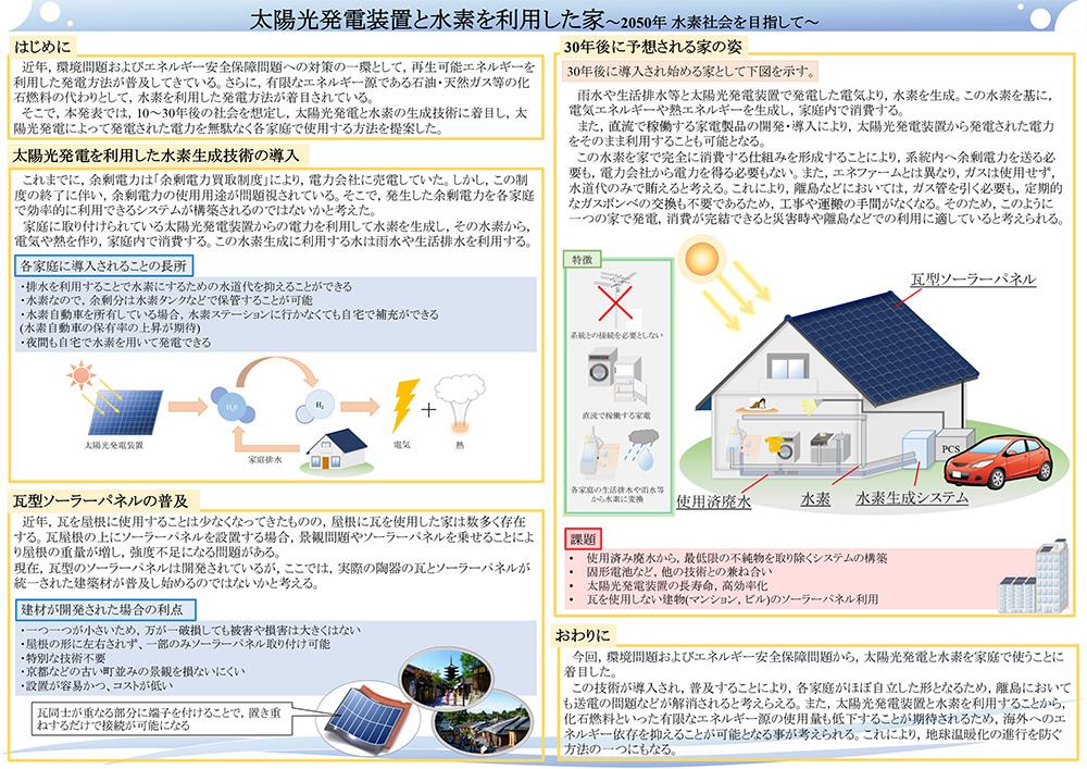 太陽光発電装置と水素を利用した家